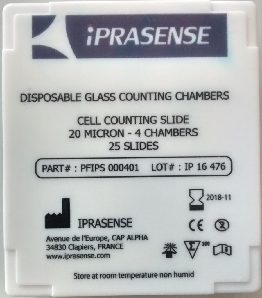 Cell counting Slide 20µm - 4 Chambers - Box of 25 slides