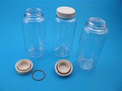 500 mL, Polycarbonate Bottle with Cap Assembly, 69 x 160mm, box of 6