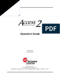 ACCESS OPERATOR'S GUIDE (ENGLISH)
