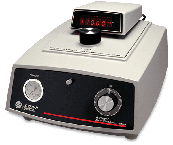 Airfuge, Airdriven MicroUltracentrifuge with digital Tachometer 220V 50Hz