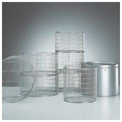Wire-mesh basket made from stainless steel, stackable,  Ø x H (mm) 360 x 282, fo