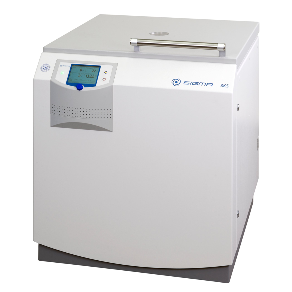 Sigma 8KBS package, floorstanding refrigerated centrifuge 3 x 400 V, 50 Hz