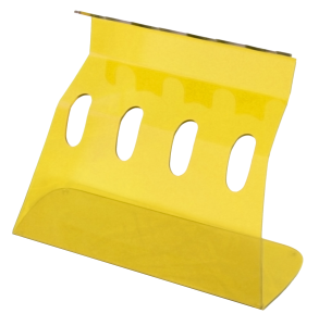 4 Pipette Linear Plexi Stand; Yellow transparent