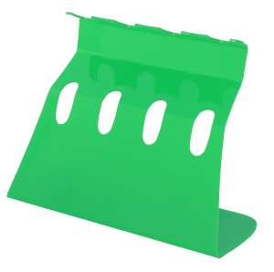 4 Pipette Linear Plexi Stand; Green